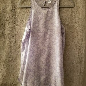 Pale purple patterned lightweight tank